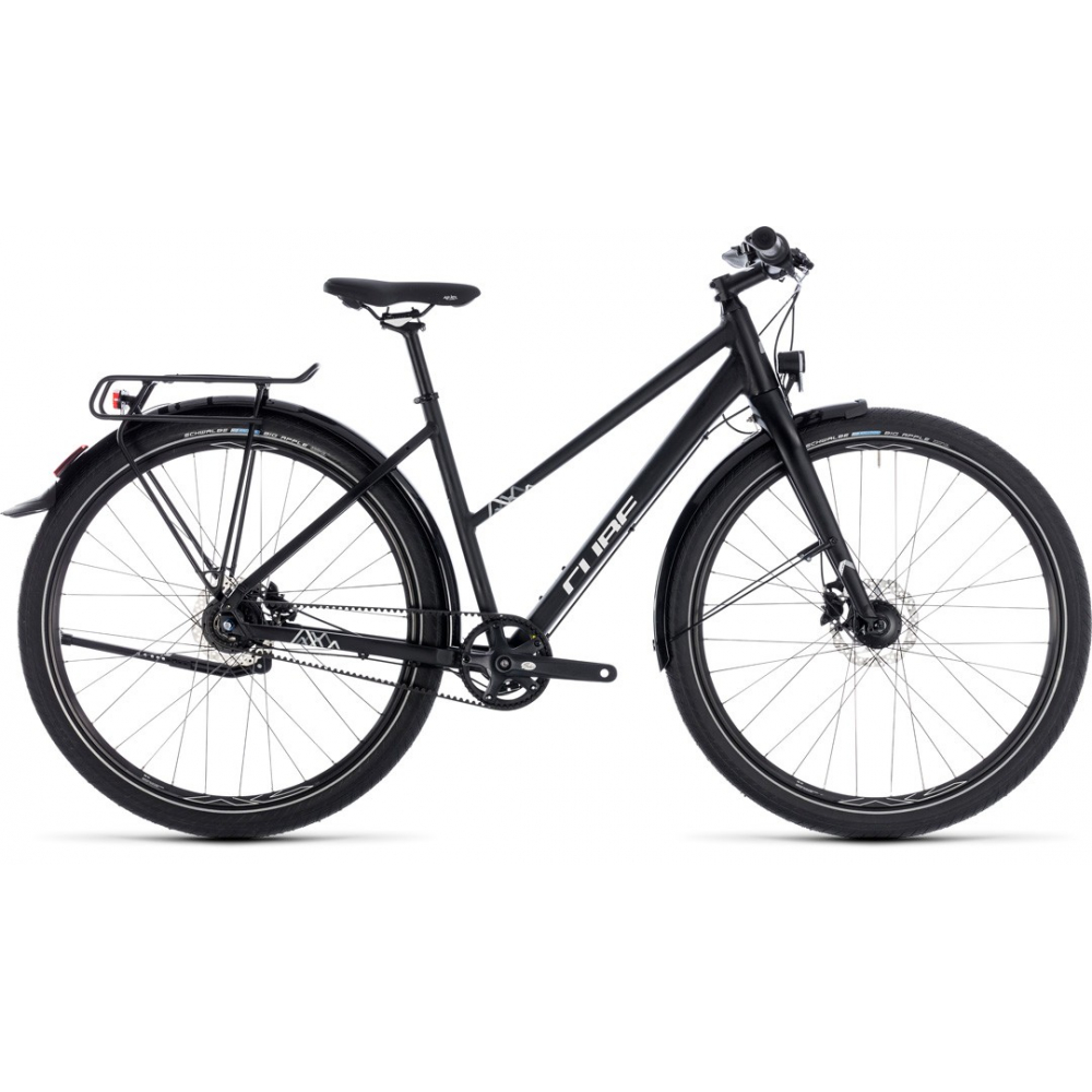 "CUBE Travel Pro 8 gear black´n´white trapez 29"" 2018"